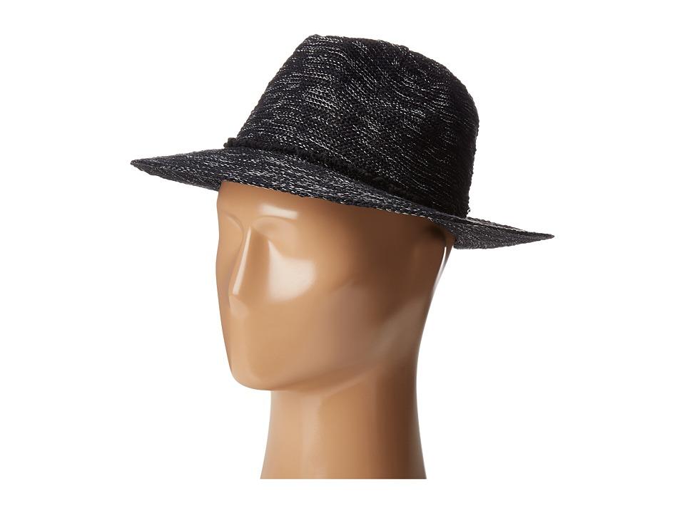 Vince Camuto - Cotton Slub Yarn Panama (Black) Caps