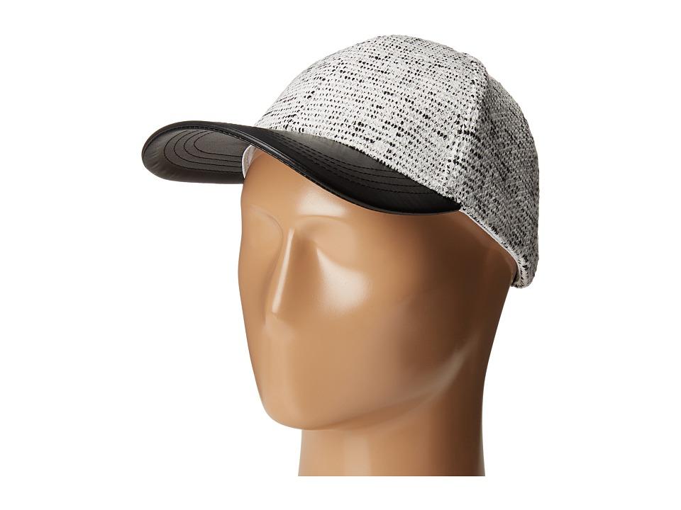 Vince Camuto - Textured Knit Baseball (Black) Baseball Caps