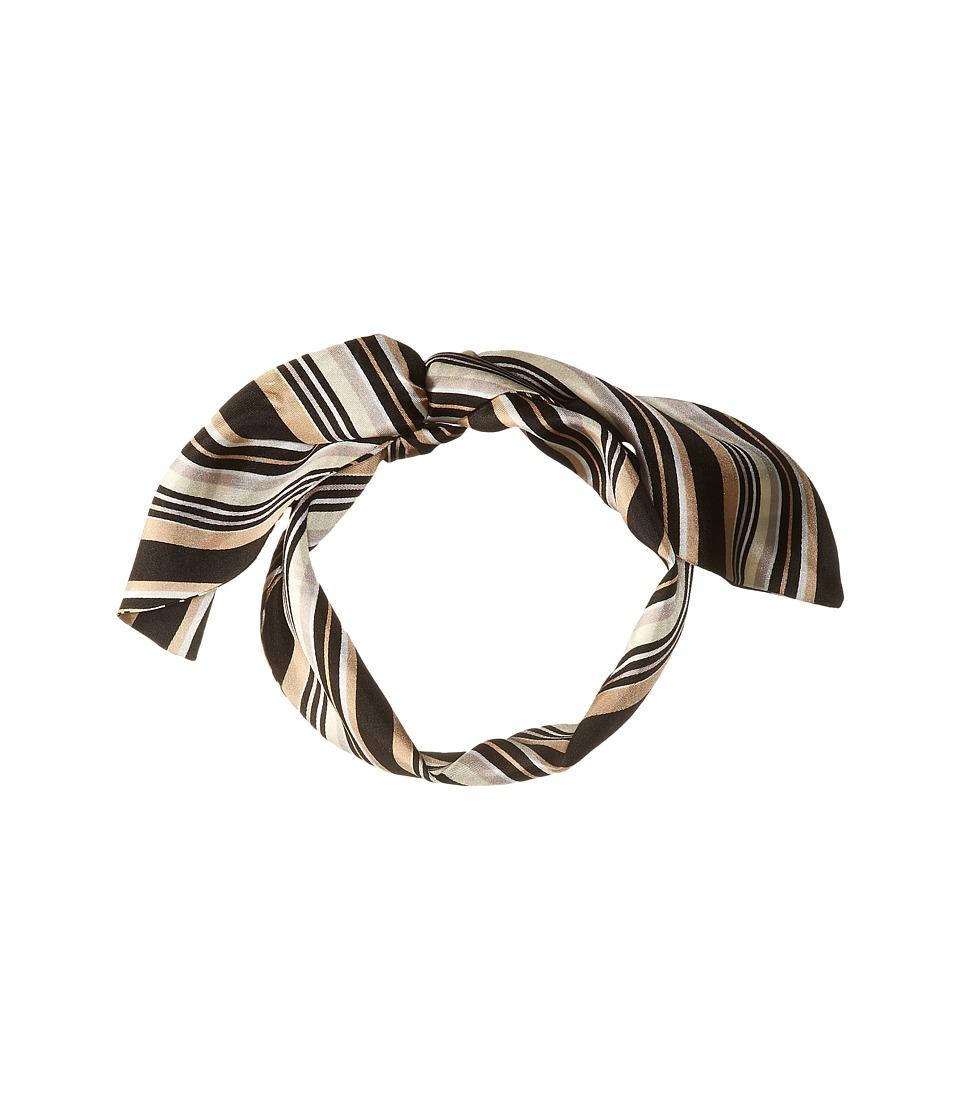 Vince Camuto - Pop Stripe Twilly (Black Camel) Scarves