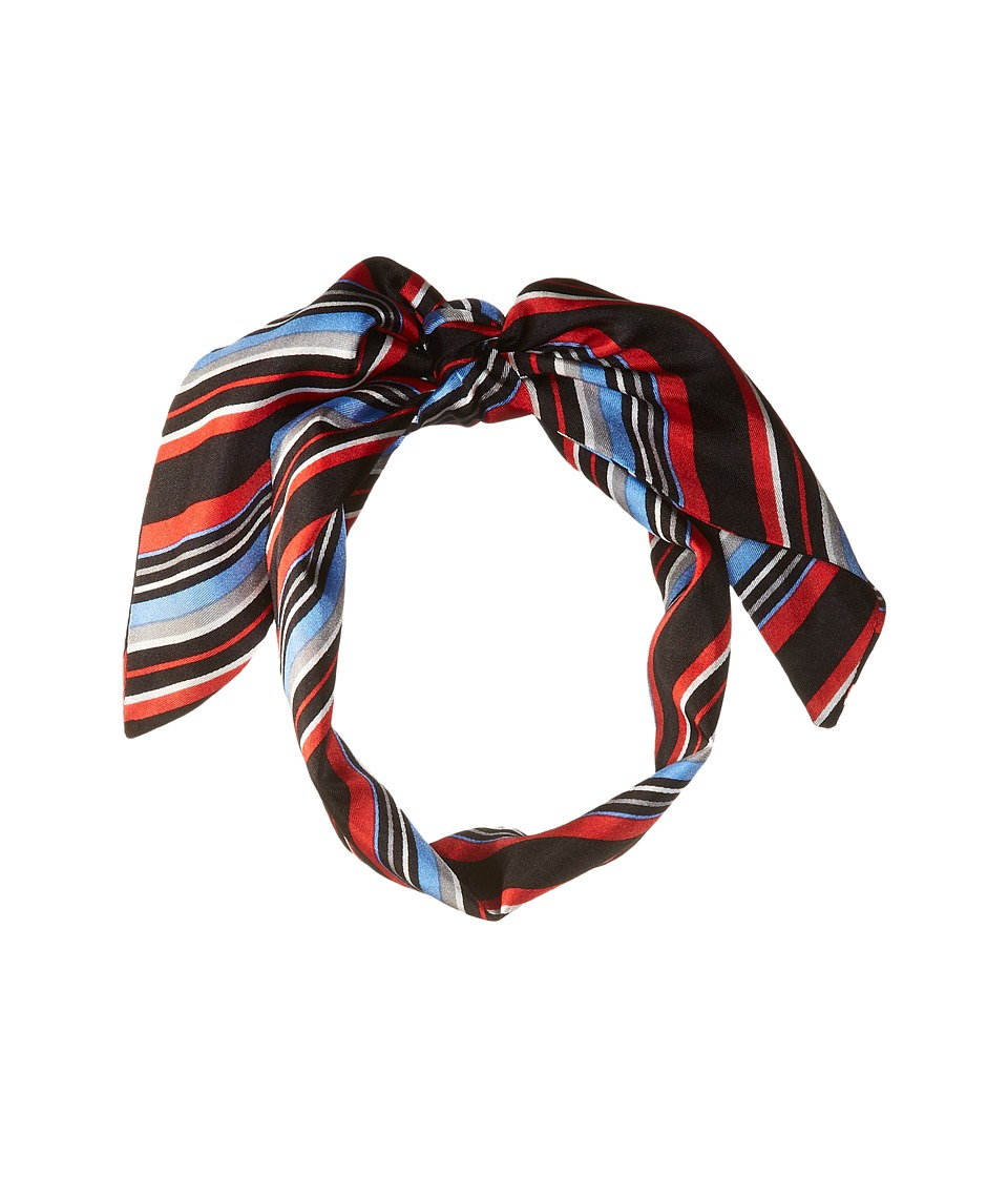 Vince Camuto - Pop Stripe Twilly (Red/Blue) Scarves