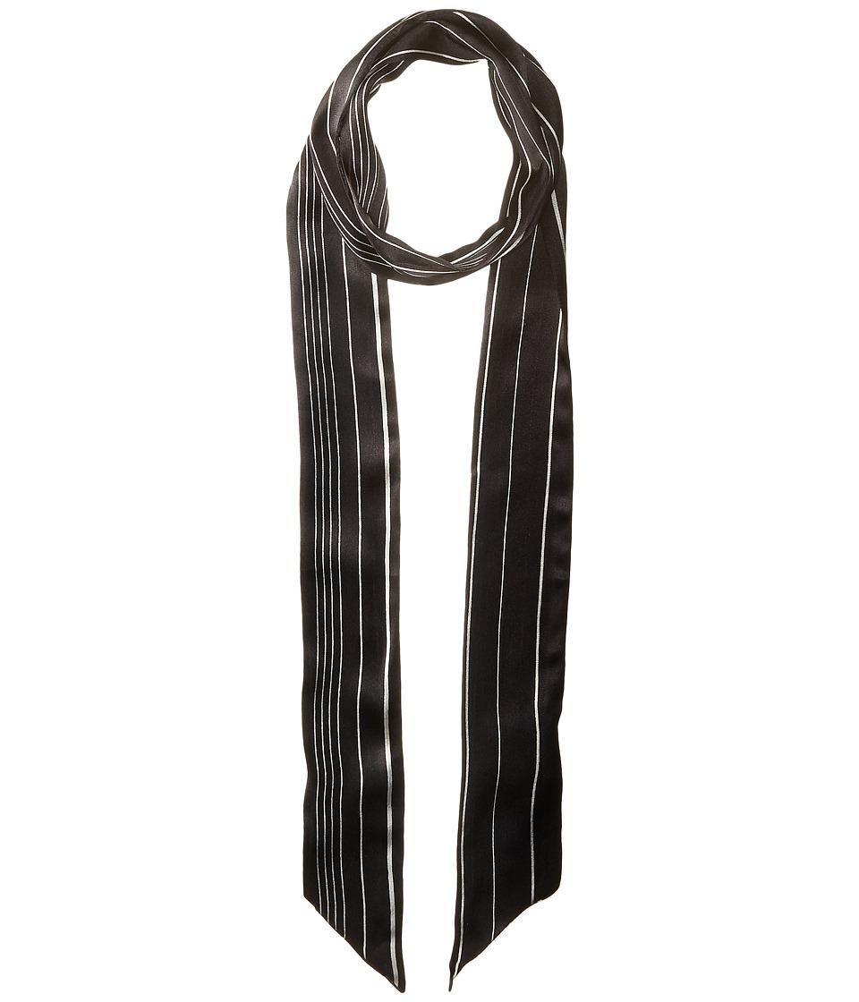Vince Camuto - Pinstripe Skinny (Black) Scarves