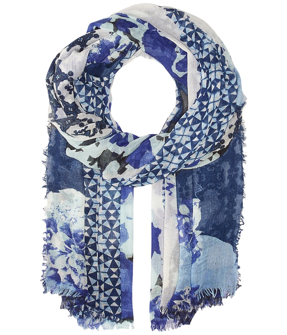 Vince Camuto - Torn Wallpaper Wrap (Marine Blue) Scarves