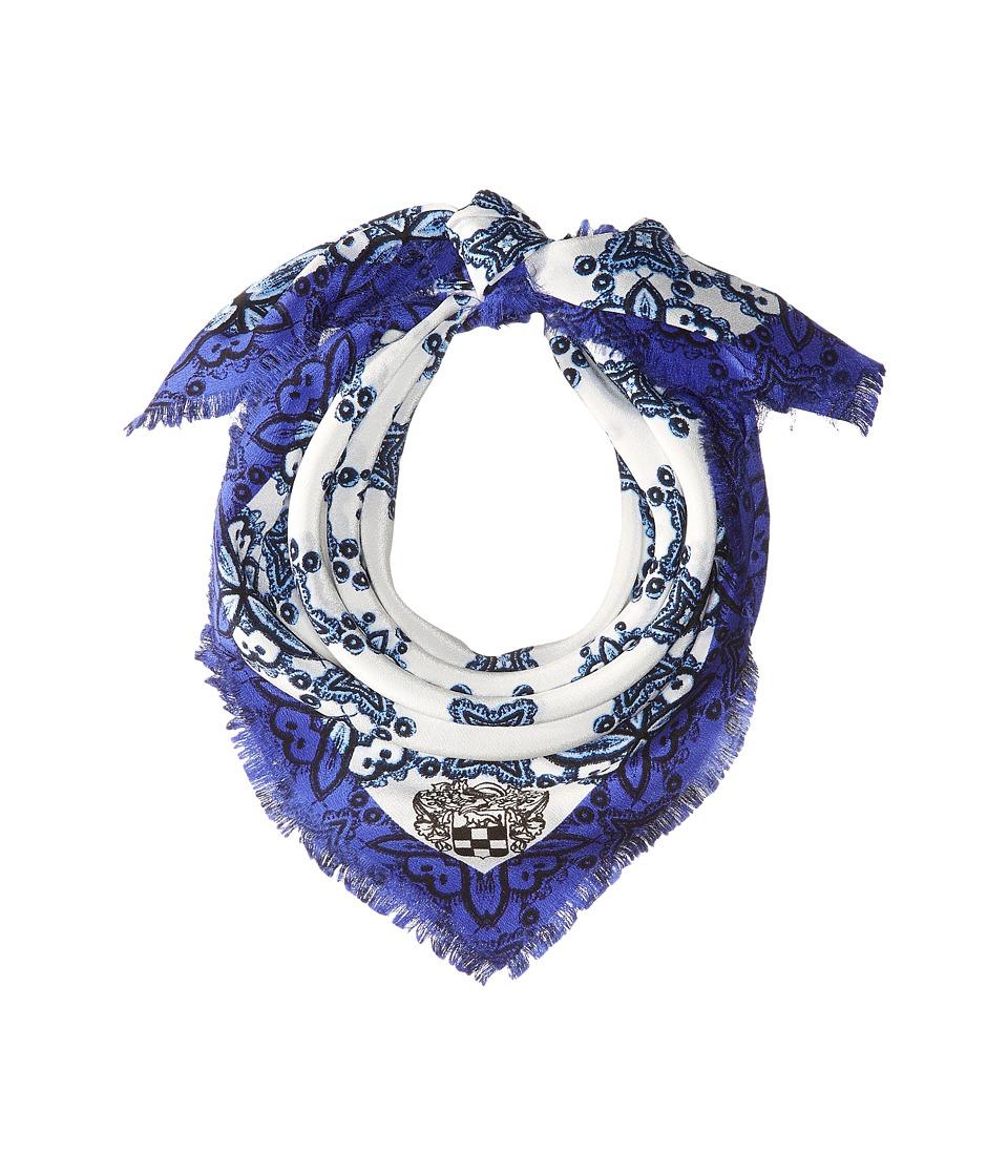 Vince Camuto - Crochet Day Bandana (Marine Blue) Scarves