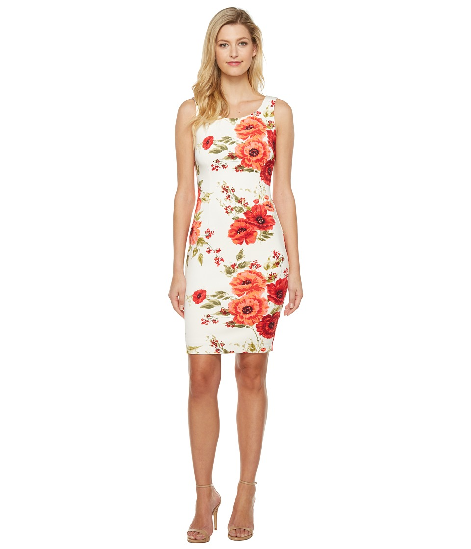 Jessica Simpson Printed Scuba Dress (Print) Women