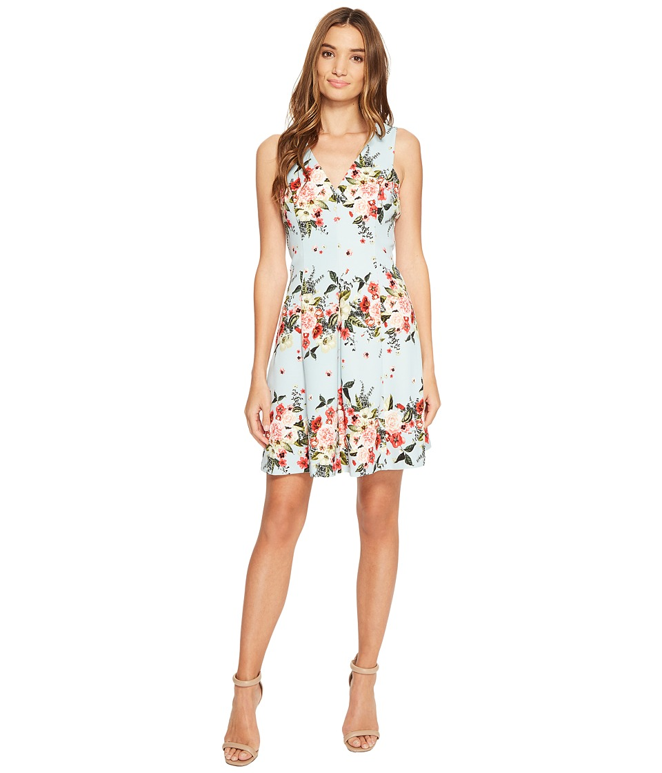 Jessica Simpson - Floral Fit and Flare Dress (Print) Women's Dress