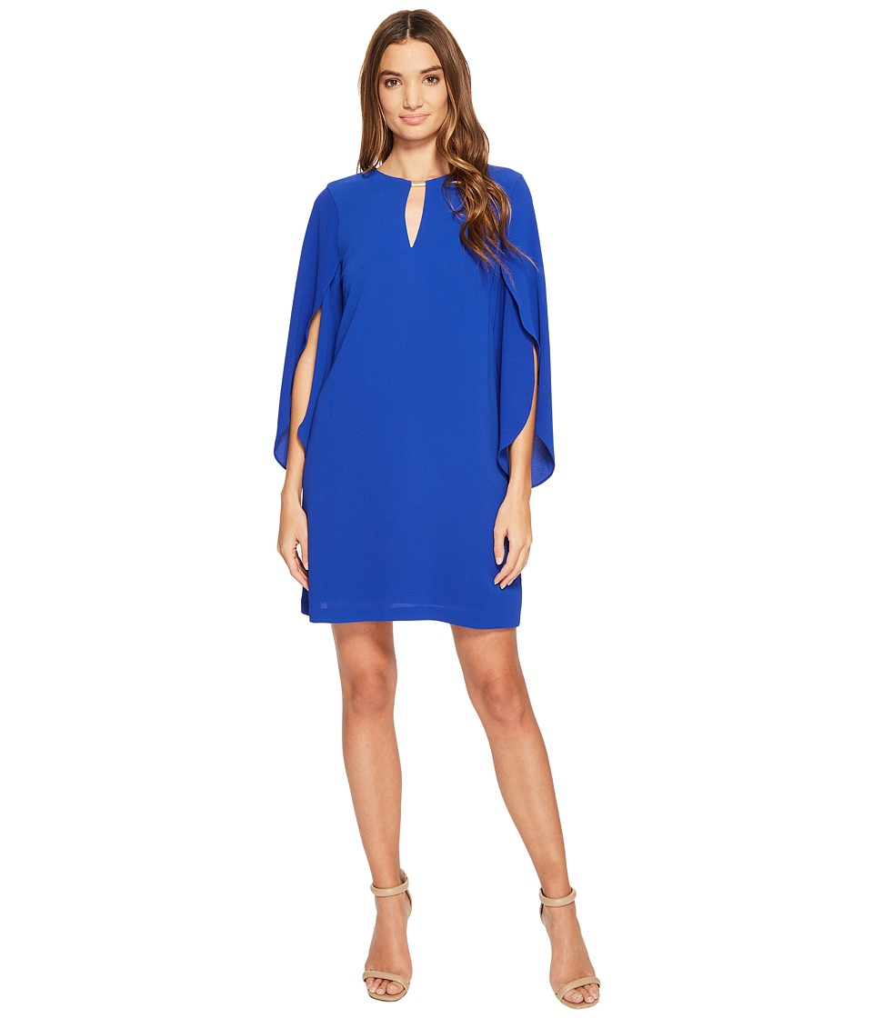 Jessica Simpson - Flutter Sleeved Cut Out Dress (Cobalt) Women's Dress