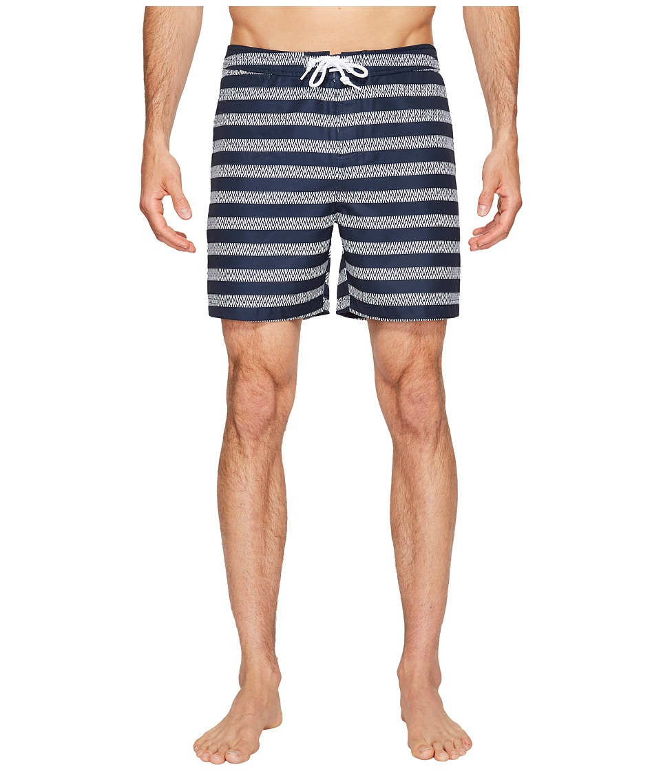 Original Penguin Stretch Horizontal Stripe (Dark Sapphire) Men