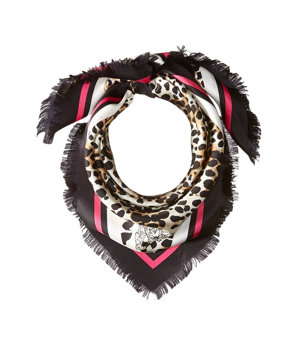 Vince Camuto - Bordered Cheetah Bandana (Black) Scarves