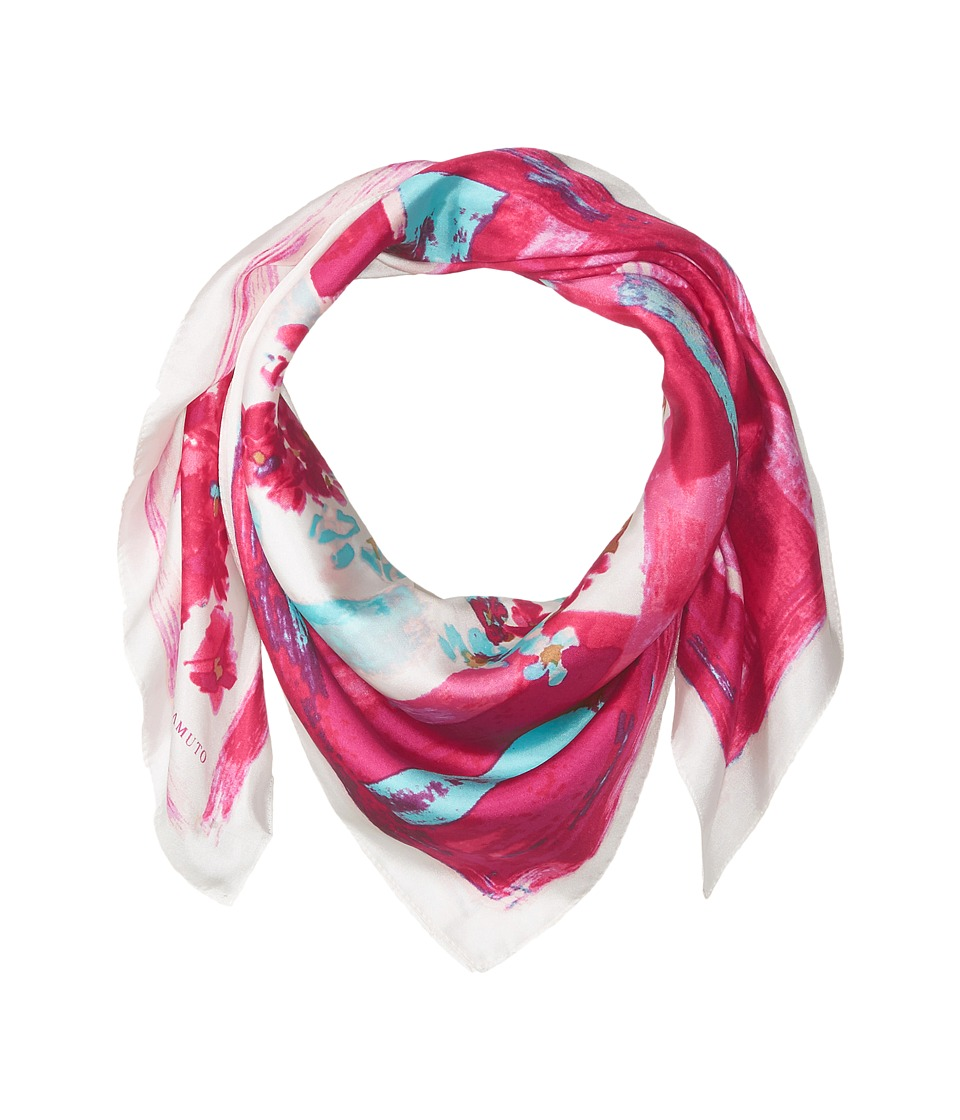 Vince Camuto - Painted Garden Square (Beet Pink) Scarves