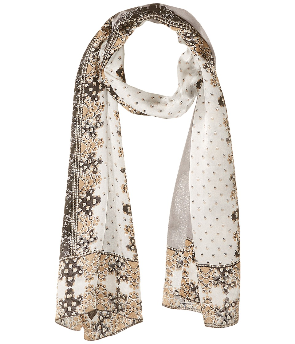 Vince Camuto - Floral Borders Oblong (Grey) Scarves