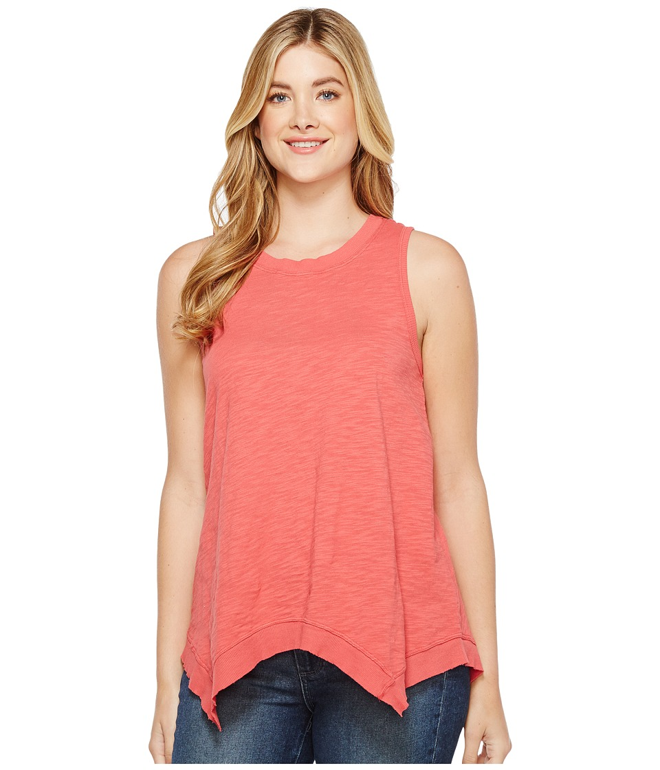 Dylan by True Grit - Soft Slub Cotton Hanky Hem Tank Top (Sailor Red) Women's Sleeveless