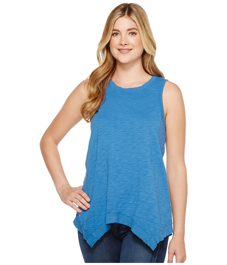 Dylan by True Grit - Soft Slub Cotton Hanky Hem Tank Top (Splash) Women's Sleeveless