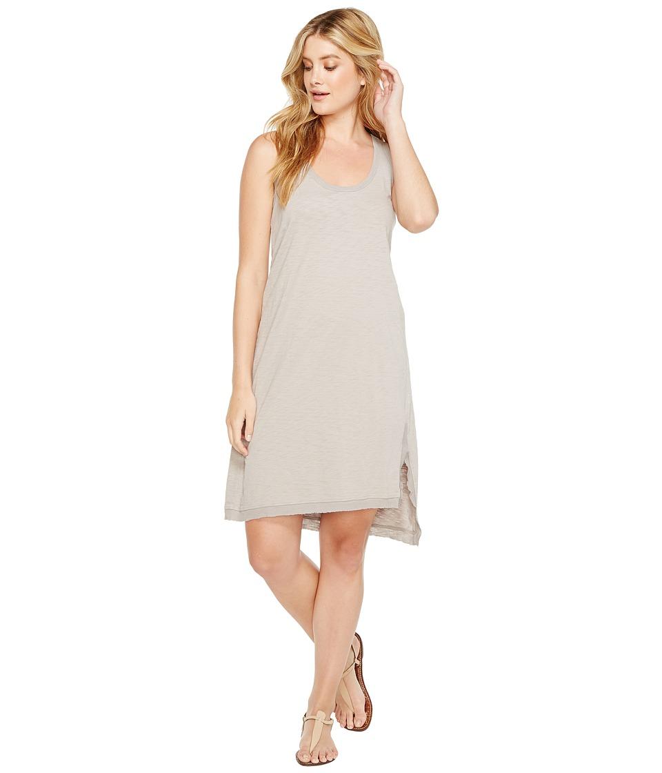 Dylan by True Grit - Luxe Cotton Slub Asymmetrical Slit Dress (Heather) Women's Dress