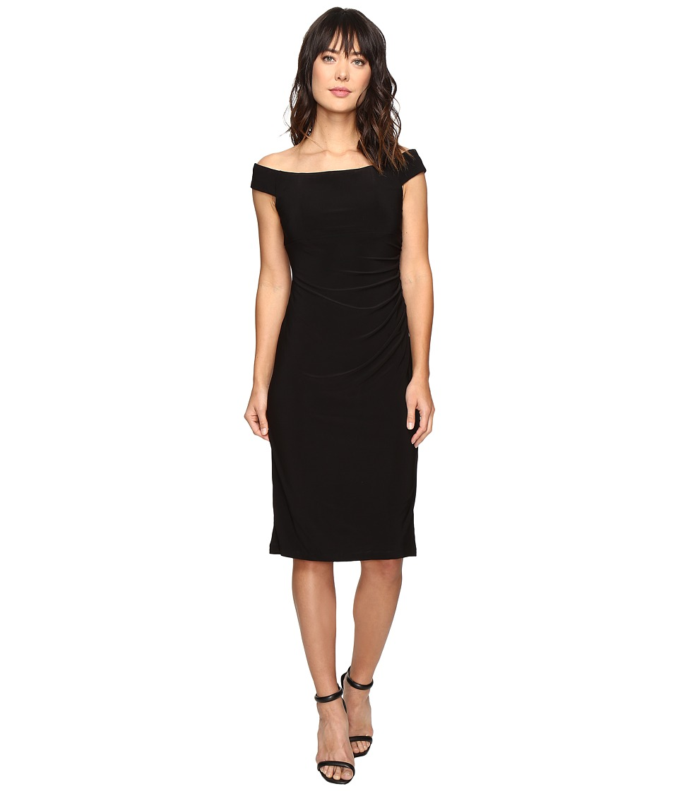 rsvp - Smith Off Shoulder Dress (Black) Women's Dress