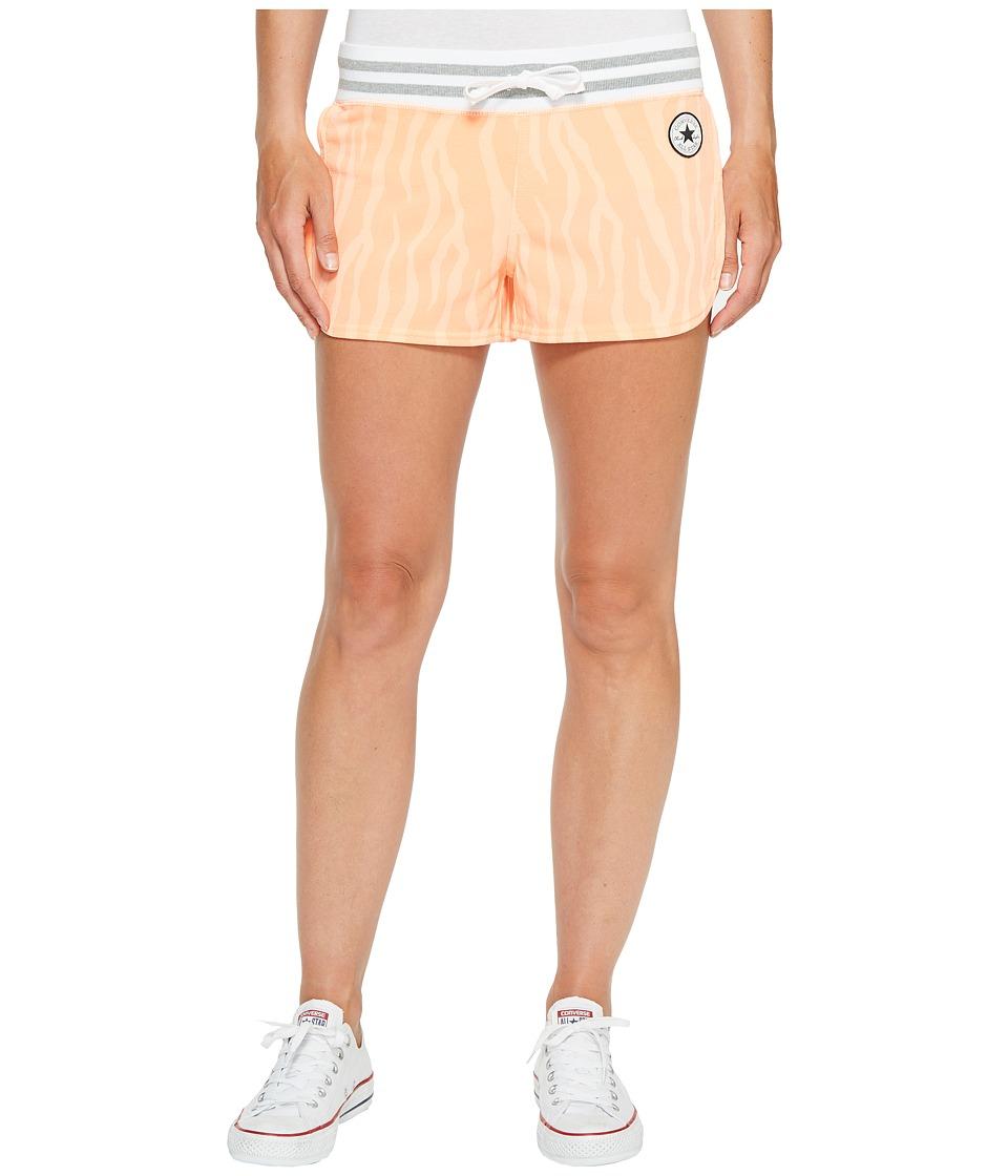 Converse - Mesh Paneled Track Shorts (Coral) Women's Shorts