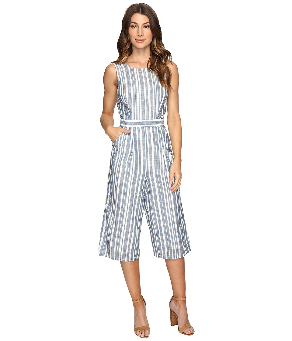 Brigitte Bailey - Abacus Striped Cullote Jumper (Blue/White) Women's Jumpsuit & Rompers One Piece