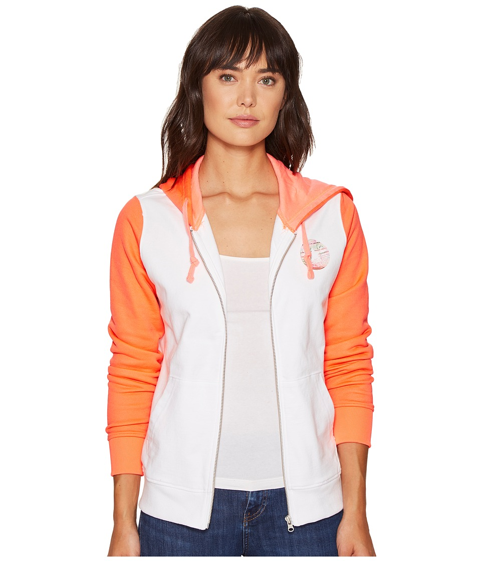 Converse - Photoreal Full Zip Hoodie (Optical White) Women's Sweatshirt