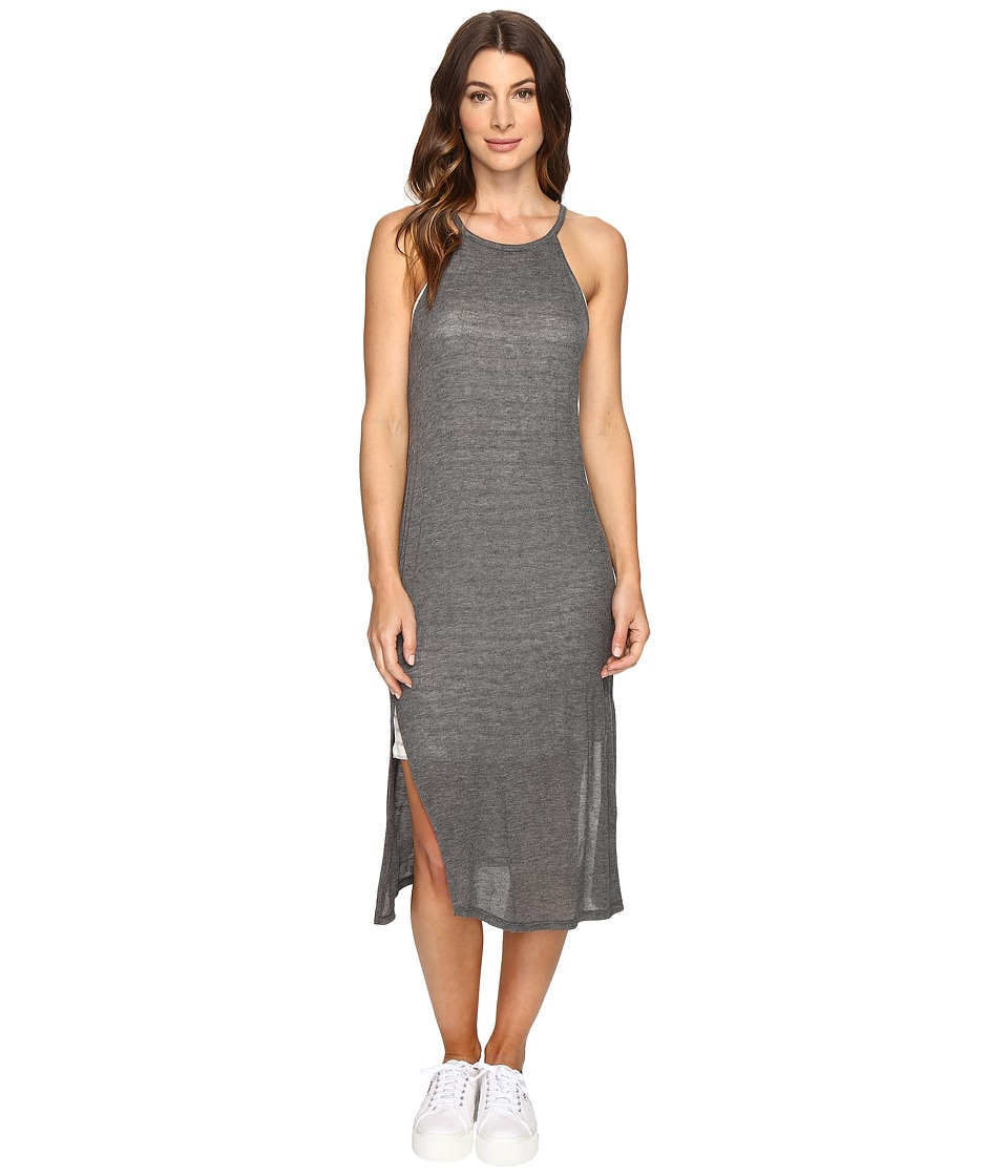 Brigitte Bailey - Alette Halter Midi w/ Stripe Detail (Med Heather Grey) Women's Dress