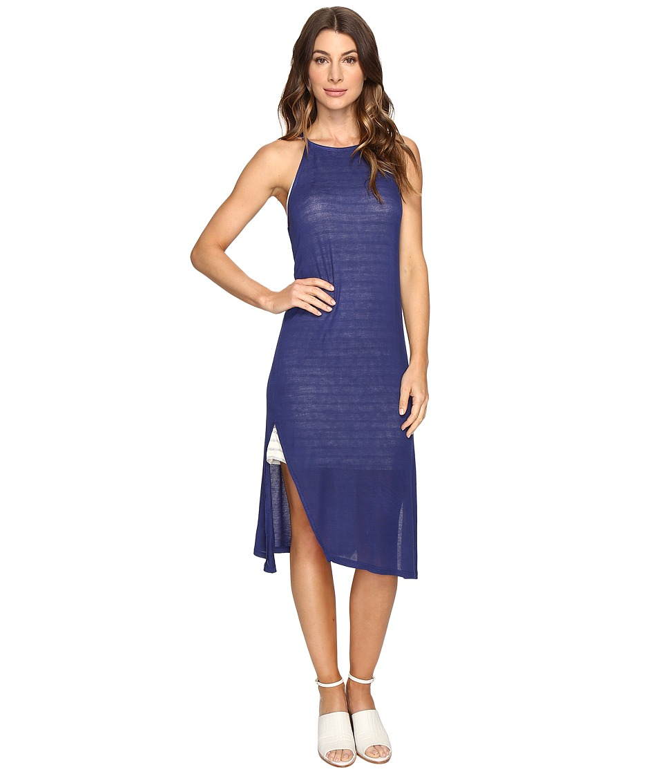 Brigitte Bailey - Alette Halter Midi w/ Stripe Detail (Navy) Women's Dress