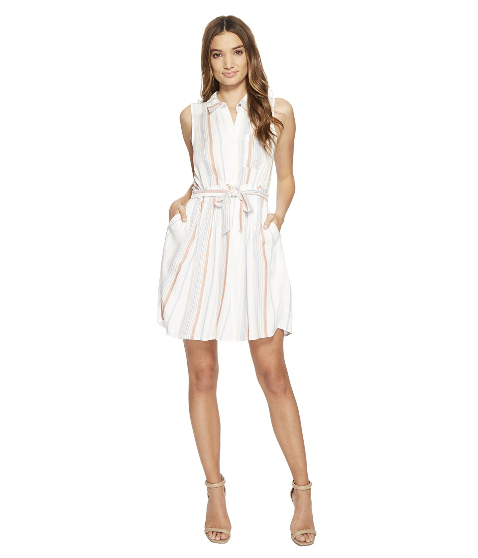 Brigitte Bailey - Ancon Sleeveless Stripe Dress (White Multi) Women's Dress