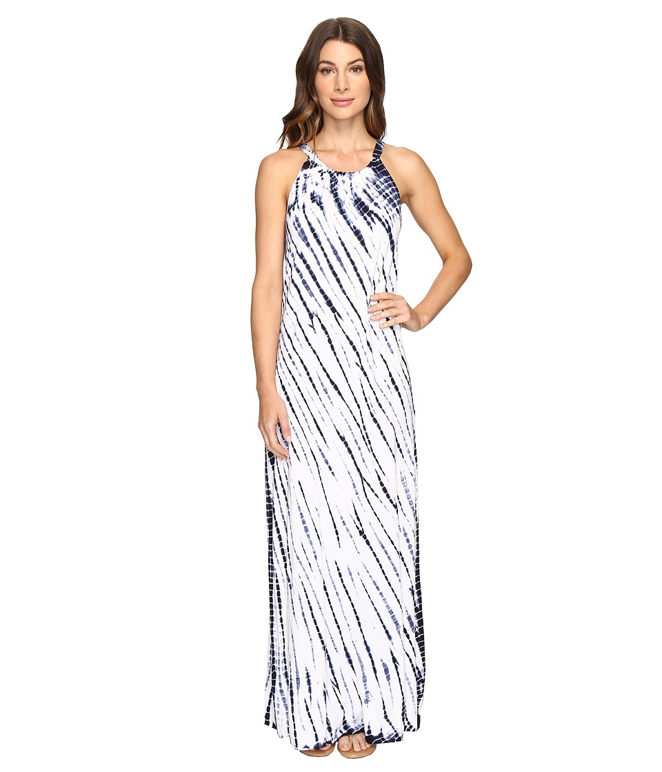Brigitte Bailey - Tye Dye Maxi Dress (Navy/White) Women's Dress