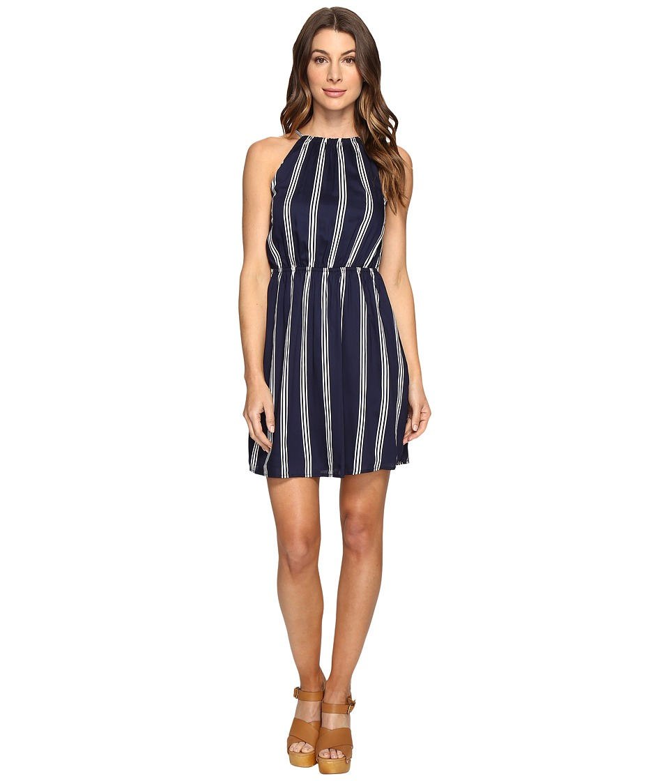 Brigitte Bailey - Accolade Stripe Sleeveless Dress (Navy) Women's Dress