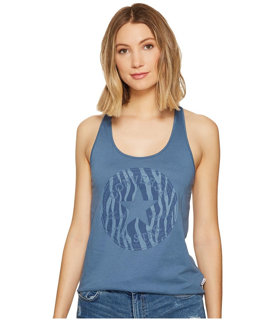 Converse - Zebra Fill Chuck Patch Classic Tank Top (Blue/Silver) Women's Sleeveless