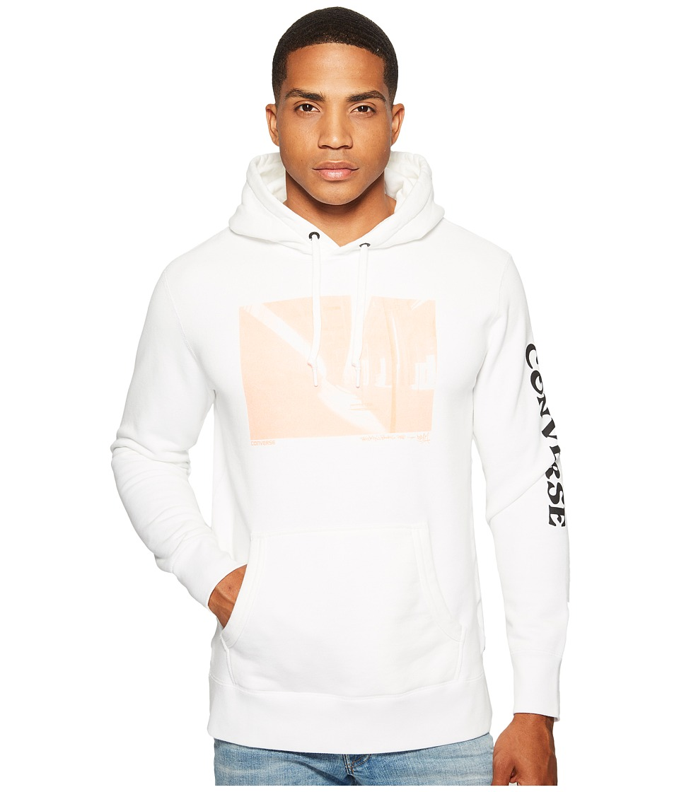Converse - Stash Photo Hoodie (Optical White) Men's Sweatshirt