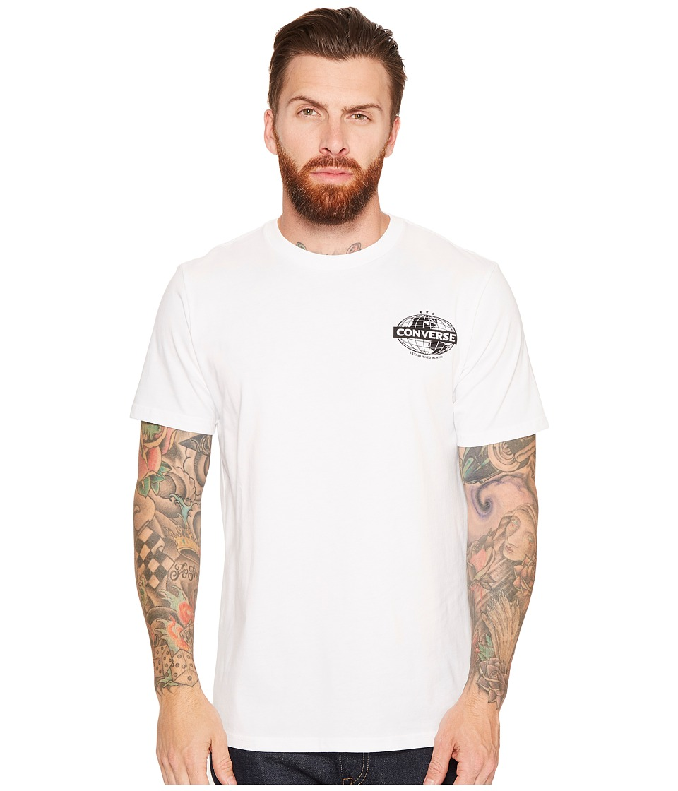 Converse - Globe Tee (Optical White) Men's T Shirt