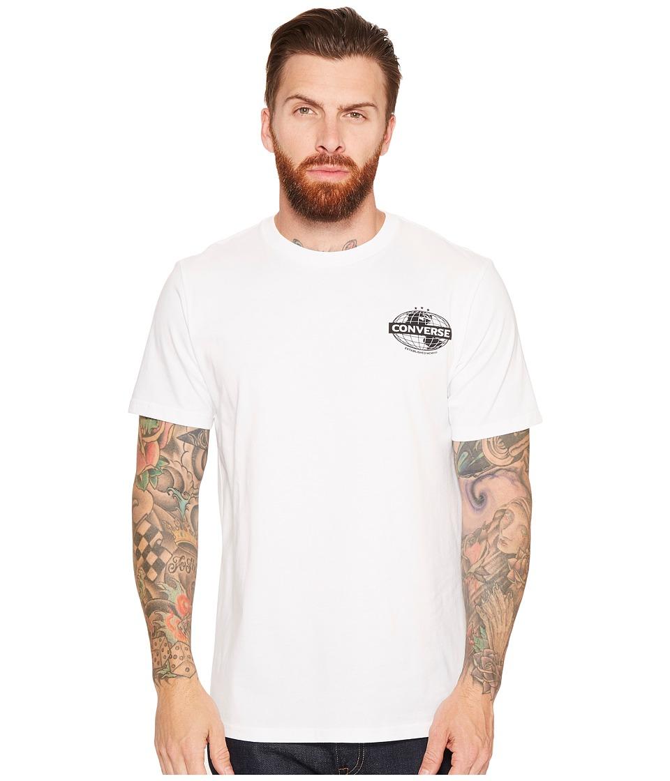 Converse - Globe Tee (Optical White) Men's T Shirt