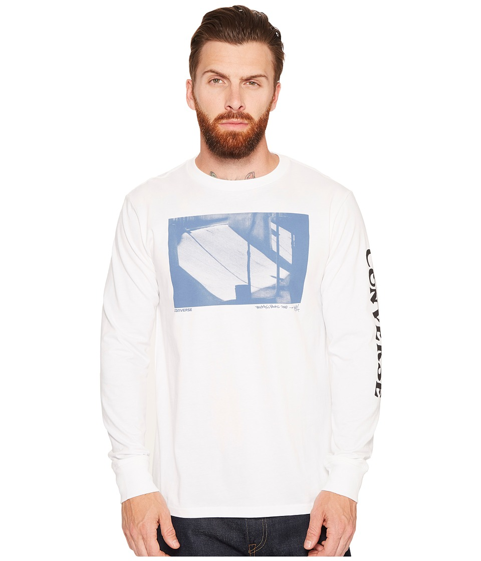Converse - Stash Long Sleeve Tee (Optical White) Men's T Shirt