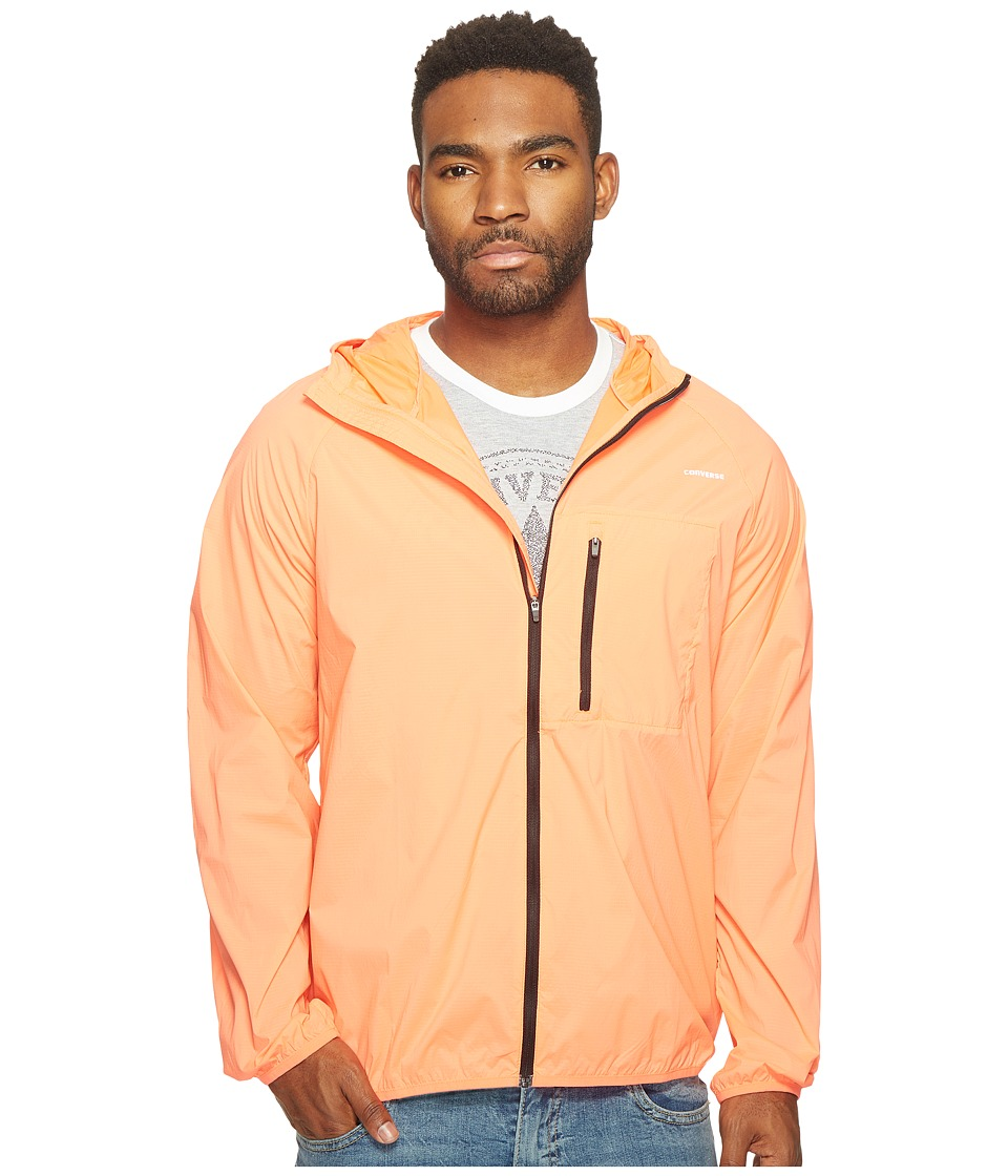 Converse - Blur Nylon Jacket (Light Orange) Men's Coat