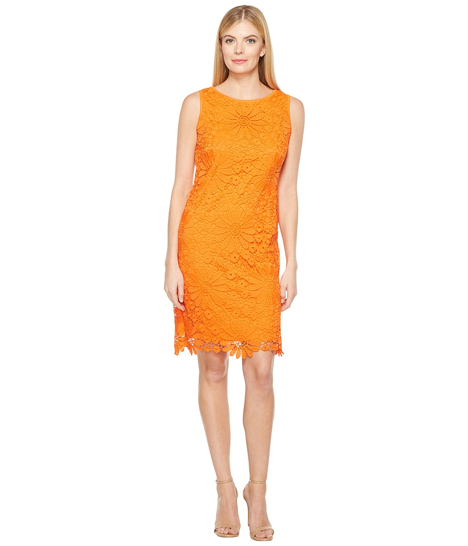 Christin Michaels - Criterion Lace Dress (Tangerine) Women's Dress