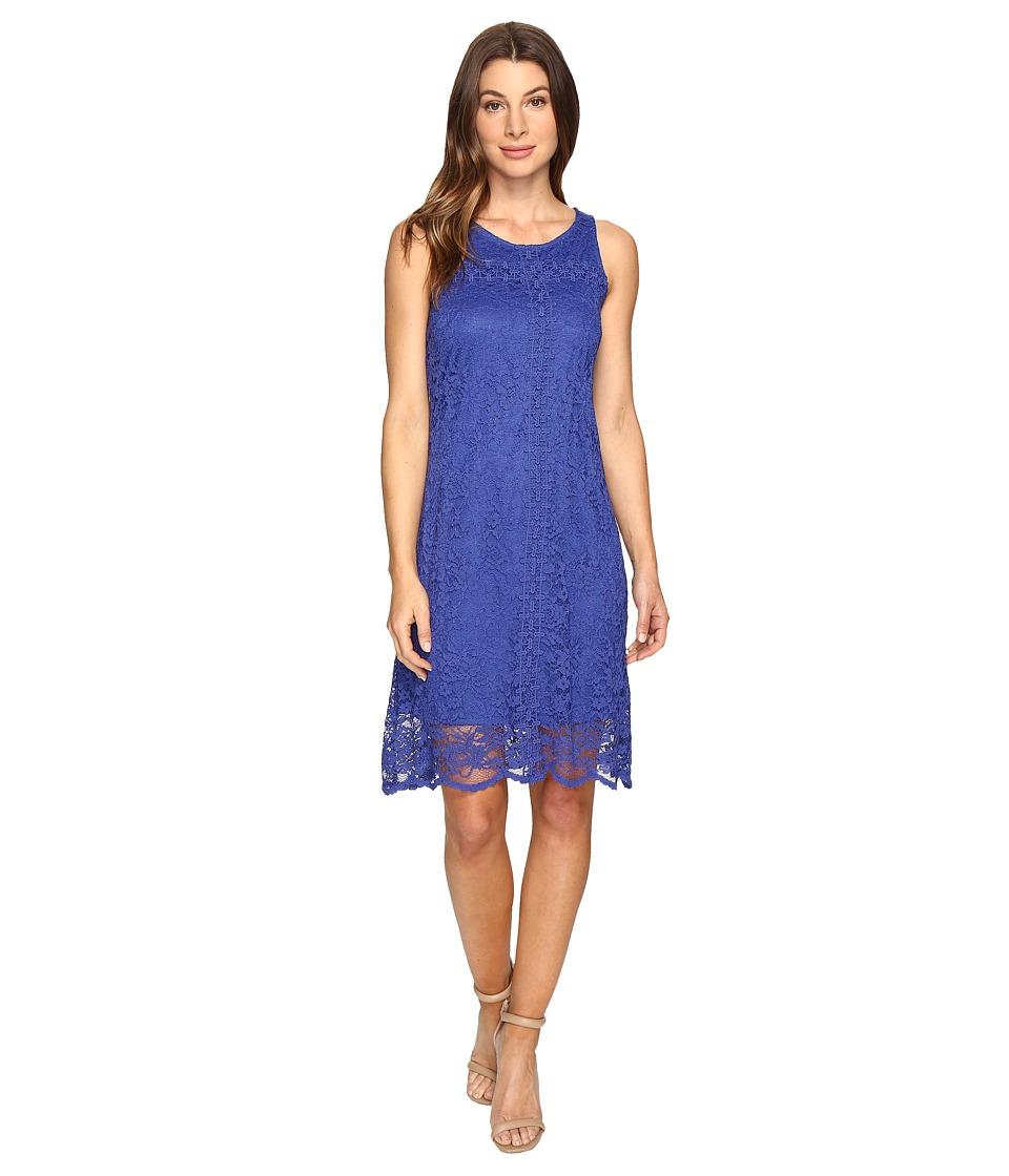 Christin Michaels - Coffer Lace Dress (Navy) Women's Dress