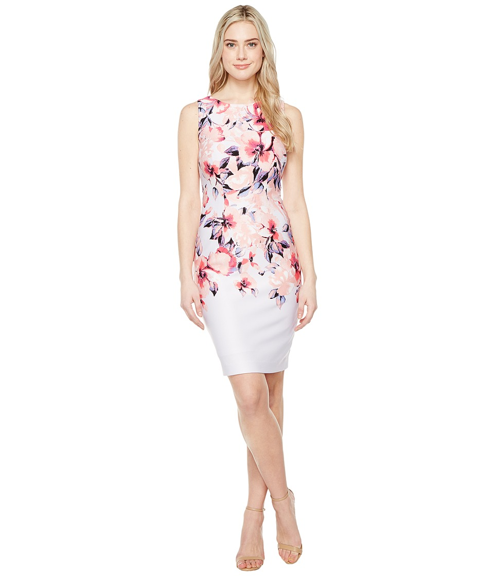 Christin Michaels - Cortland Printed Dress (Misty Lilac/Blush) Women's Dress