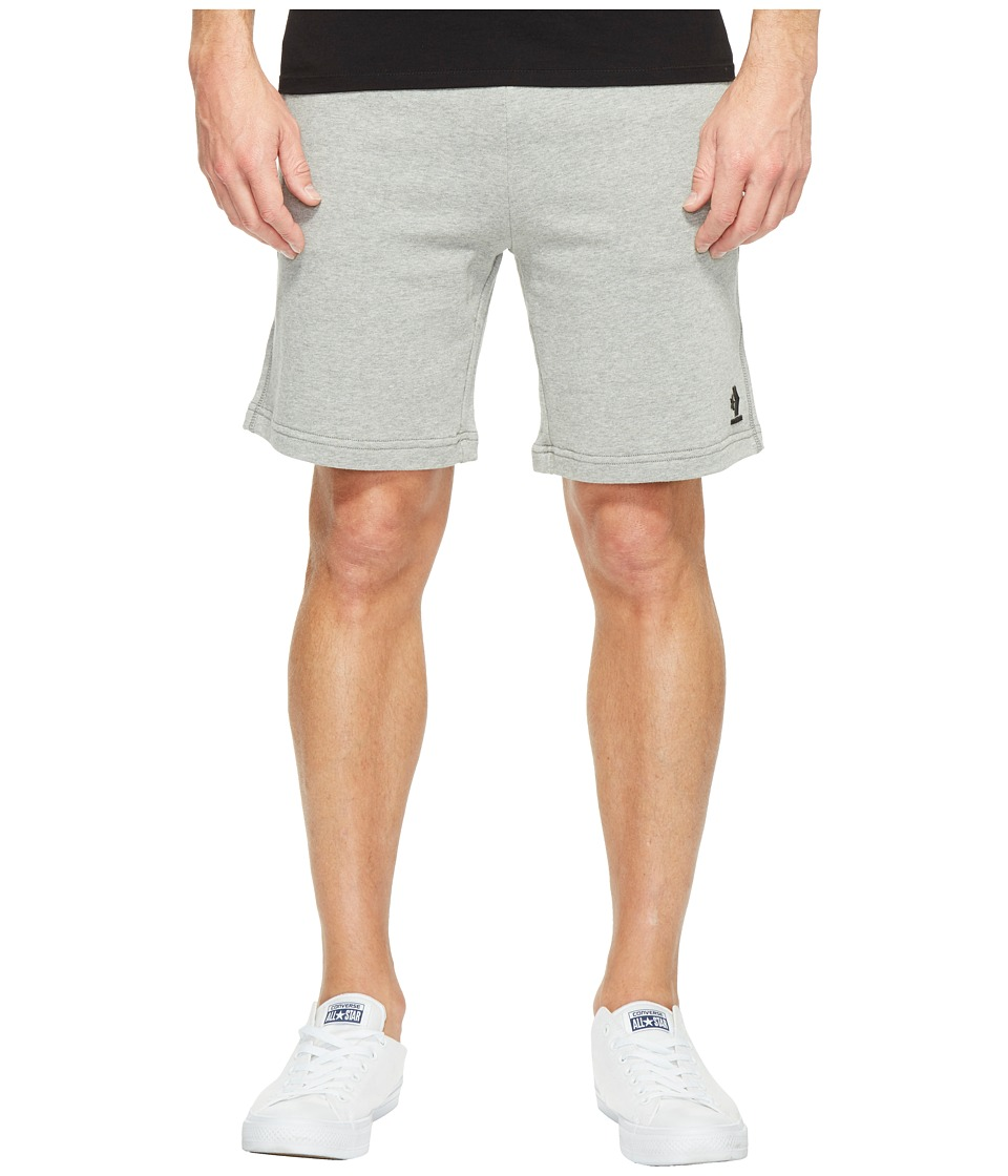 Converse - Mesh Rib Track Shorts (Charcoal/Red) Men's Shorts