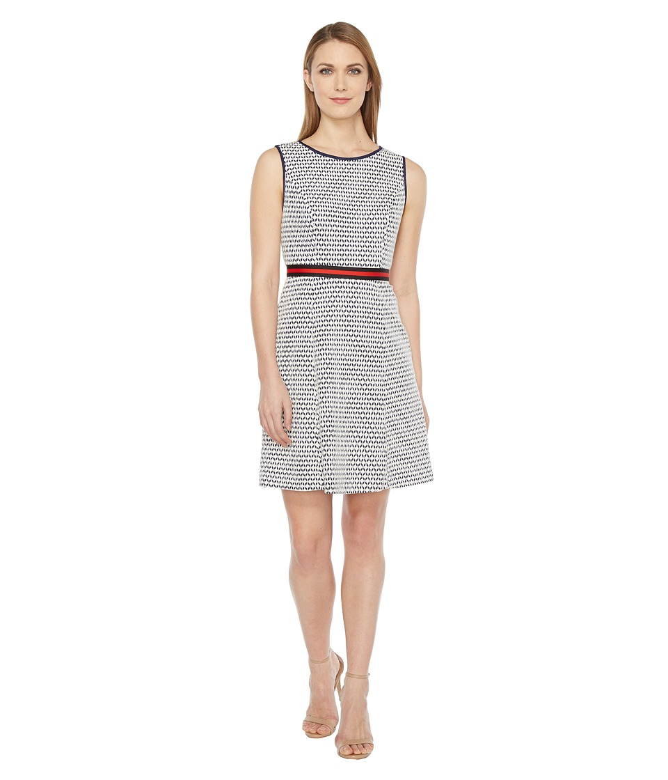 Christin Michaels Bramley Sleeveless Dress (Ivory/Navy) Women