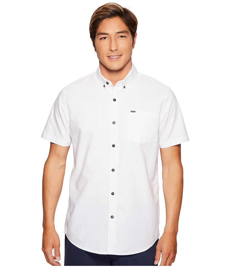 Rip Curl - Ourtime Short Sleeve Shirt (White) Men's Clothing