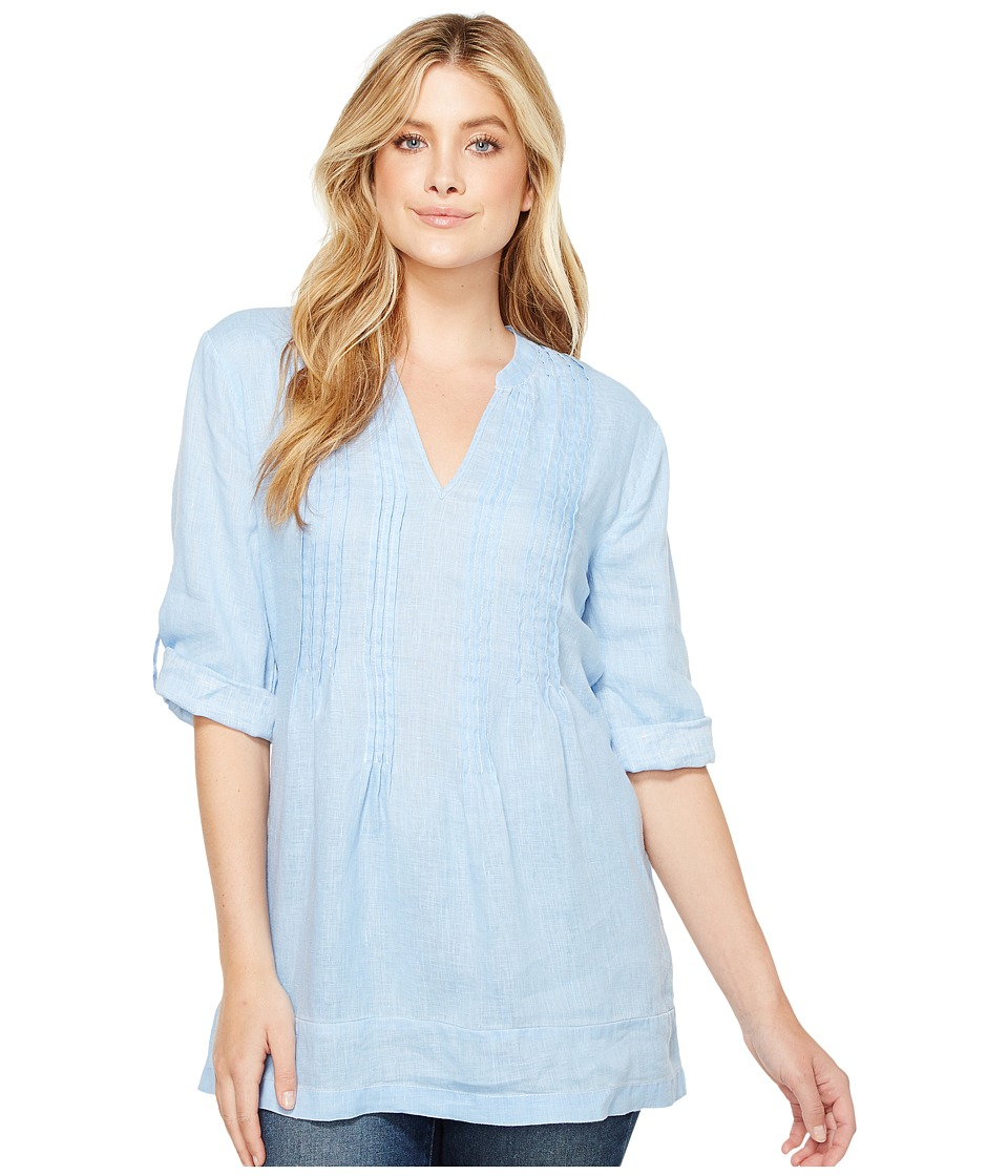 Dylan by True Grit Pintuck Washed Linen Tunic (Chambray) Women