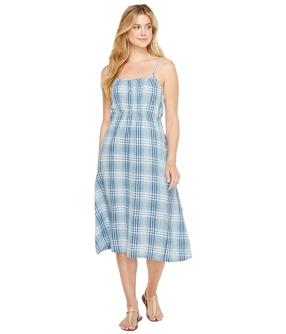 Dylan by True Grit - Genuine Indigo Linens Bonita Slip Dress Denim Small Plaids (Denim) Women's Dress