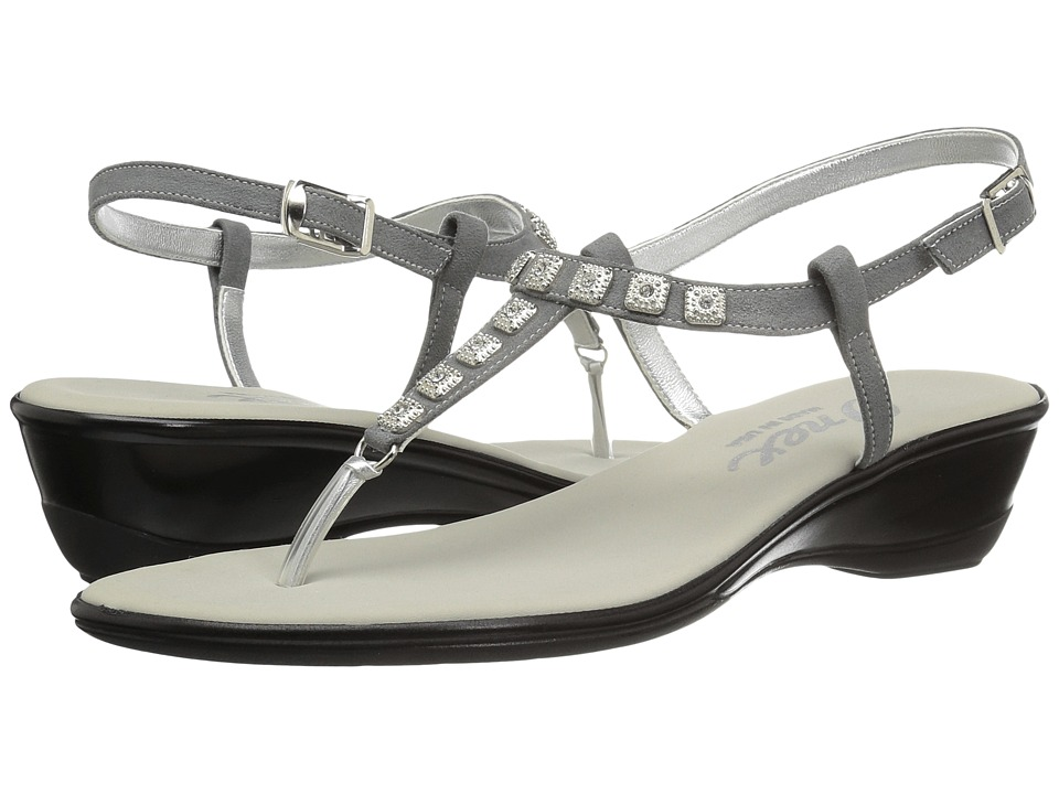 Onex - Sprinkles (Pewter Suede) Women's Sandals