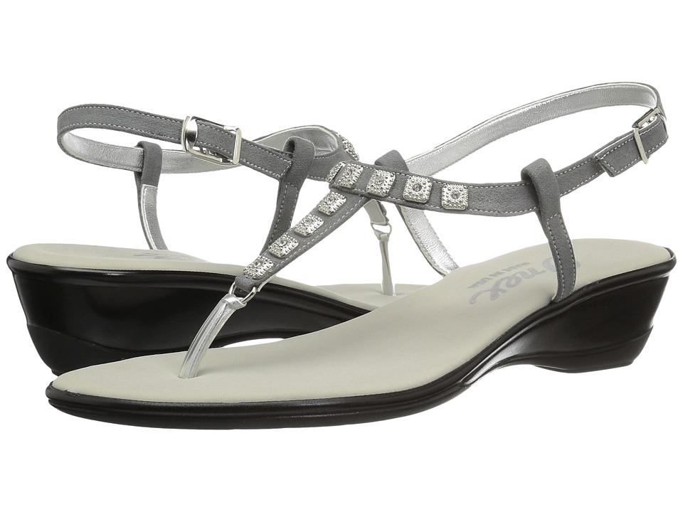 Onex - Sprinkles (Pewter Suede) Women's Sandals