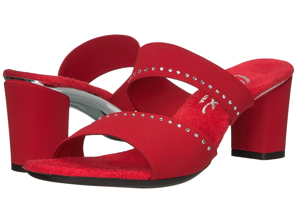 Onex - Sassie (Red Elastic) High Heels
