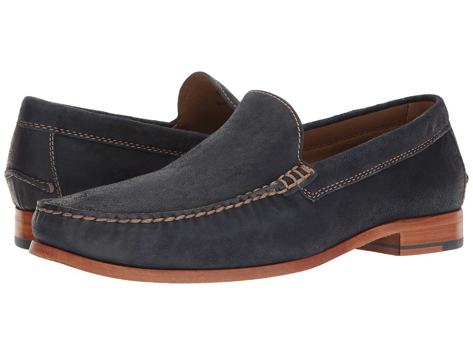Trask - Seymour (Navy) Men's Flat Shoes