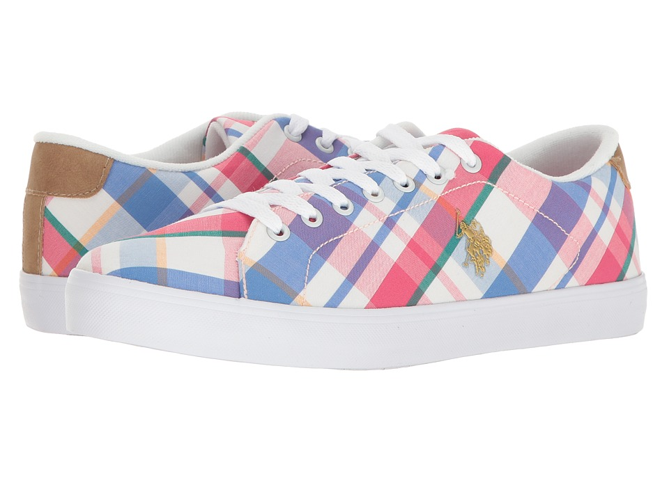 U.S. POLO ASSN. - Cherish-P (Pink Plaid) Women's Shoes
