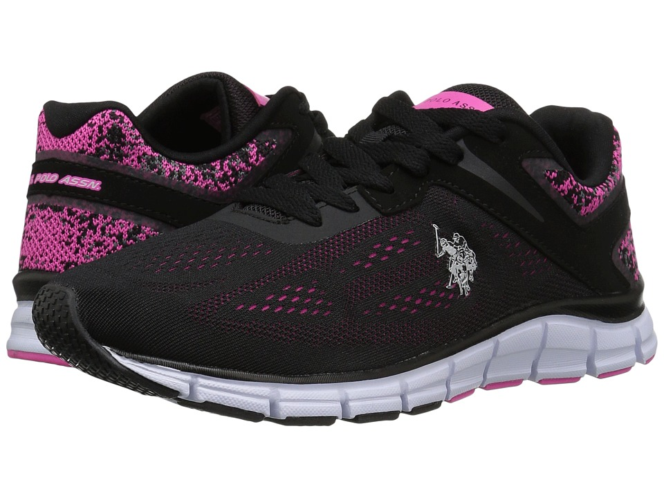 U.S. POLO ASSN. - Raven-EK (Black/Fuchsia) Women's Shoes