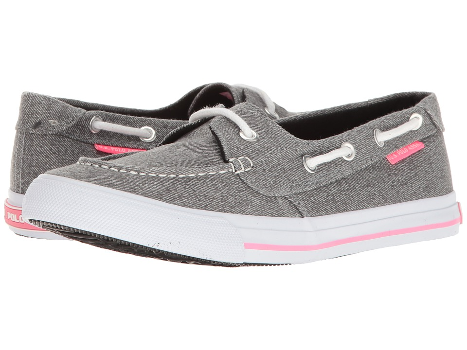 U.S. POLO ASSN. - Stacy-LN (Dark Grey Wash/Fuchsia) Women's Shoes