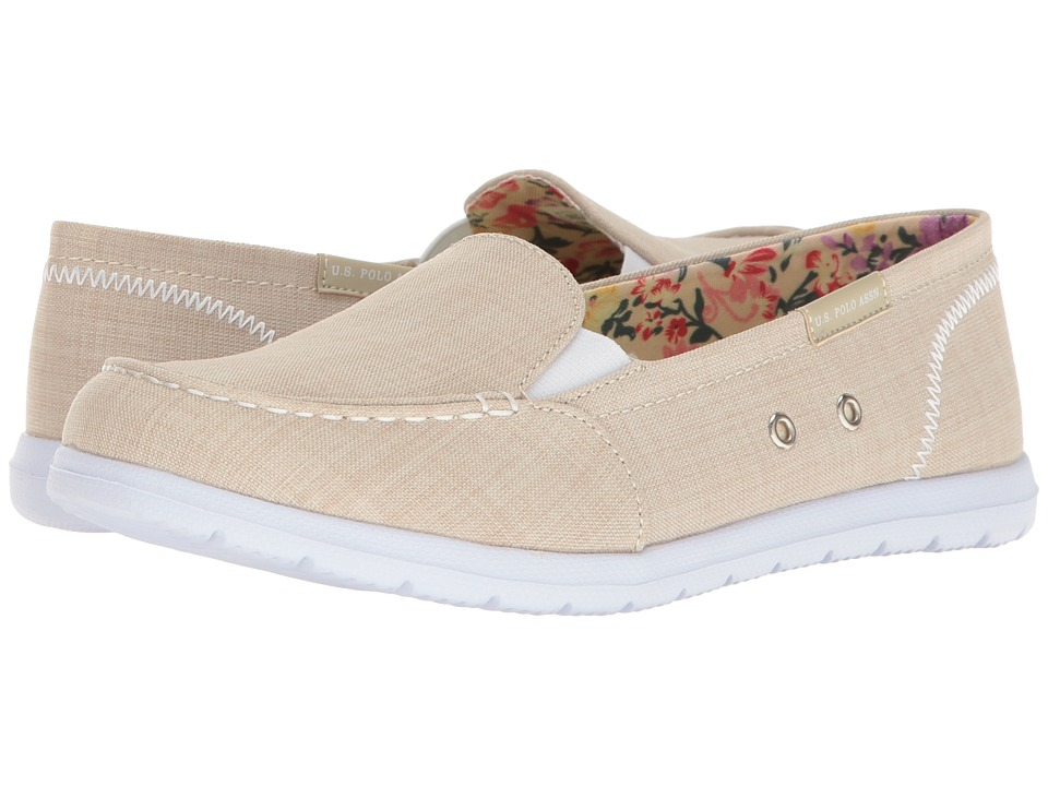 U.S. POLO ASSN. - Priscila9 (Beige Linen) Women's Shoes