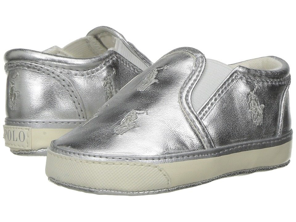 Polo Ralph Lauren Kids - Bal Harbour Repeat (Infant/Toddler) (Silver Metallic/Silver Pony) Girls Shoes