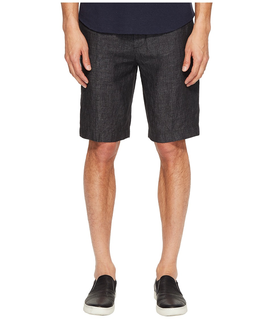Vince - Relaxed Linen Shorts (Charcoal) Men's Shorts